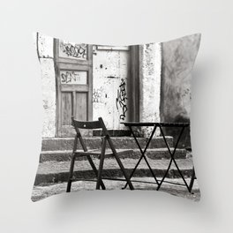 Just Two Chairs - Catania - Sicily - Italy  Throw Pillow