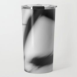Black and white abstract, lines and blur Travel Mug
