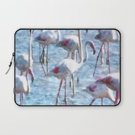 Stand Out In the Crowd Flamingo Watercolor Laptop Sleeve