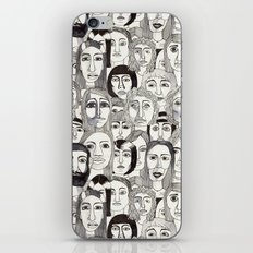Faces in the Tube iPhone Skin