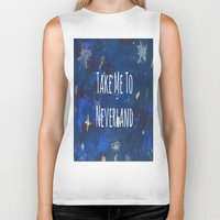 neverland Biker Tanks featuring Take Me To Neverland | Galaxy by Sarah Hinds