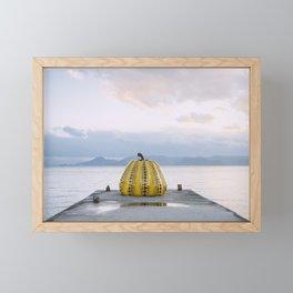 Yayoi Kusama's Yellow Pumpkin Framed Mini Art Print