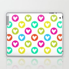 Colorful hearts  Laptop & iPad Skin