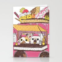 truck Stationery Cards featuring IceCream Truck by ShangheeShin