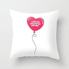 HEART BALLOON Throw Pillow
