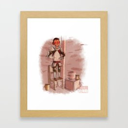 Krem is the tallest!! Framed Art Print