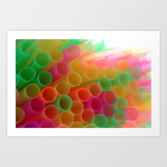 Colorful Straws Photo Art Print