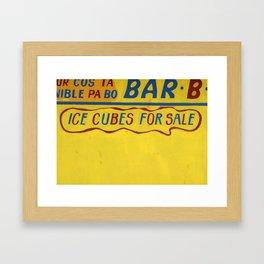 CUBES 4 SALE Framed Art Print