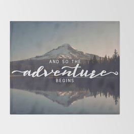Trillium Adventure Begins - Nature Photography Throw Blanket