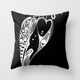 Bird Black Version Throw Pillow
