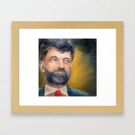 Portrait, oil painting, #MVCR Framed Art Print