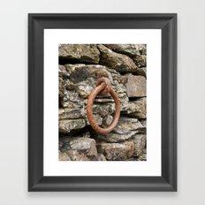Rusty mooring ring Framed Art Print