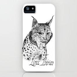 Iberian Lynx B/N iPhone Case