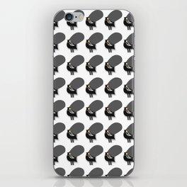 pattern black chicken iPhone Skin