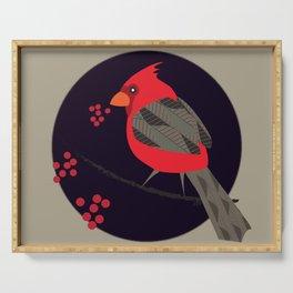 Cardinal Song Serving Tray