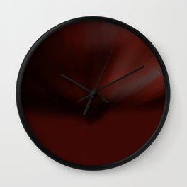 Ruby Glow Abstract  Wall Clock