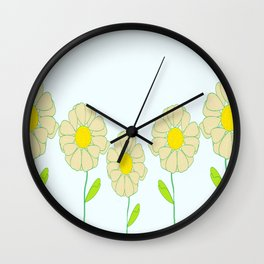 Five Daisies Wall Clock