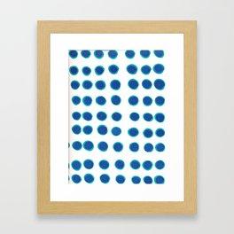 Blue Circles Framed Art Print
