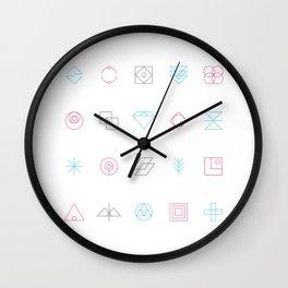 CMYK Shapes Wall Clock