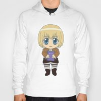 shingeki no kyojin Hoodies featuring Shingeki no Kyojin - Chibi Armin Flats by Tenki Incorporated