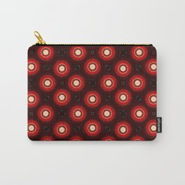 Red Wine Mandala Pattern Print Carry-All Pouch