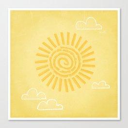 Primitive Sun (Warm Variant) Canvas Print