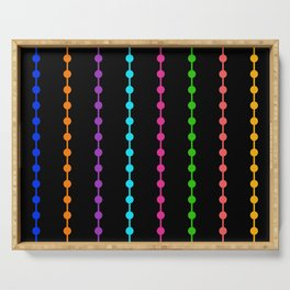 Geometric Droplets Pattern - Rainbow Colors Serving Tray