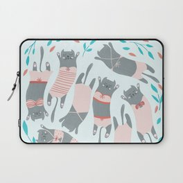 Swimsuit Cats in Sweet Pink Laptop Sleeve