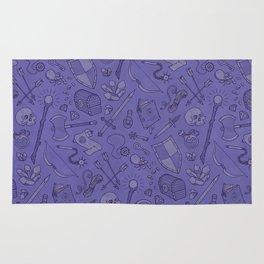 Inventory in Purple Rug