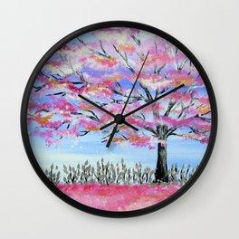 blossom trees Wall Clock
