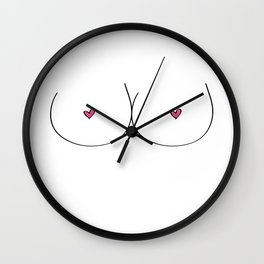Free Boobs Wall Clock