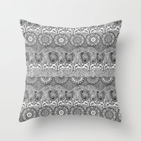 deco Throw Pillows featuring deco by OVERall