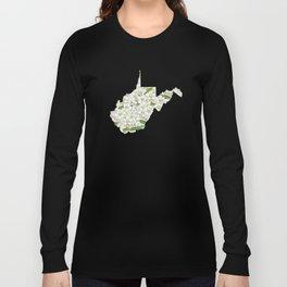 West Virginia in Flowers Long Sleeve T-shirt