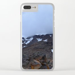 Storm moving over Mount Ruapehu. Clear iPhone Case