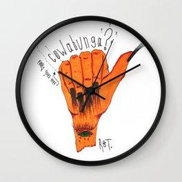 Cowabunga? Wall Clock
