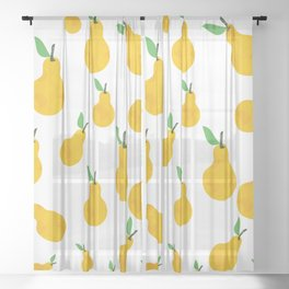 pear yellow Sheer Curtain