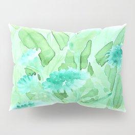 Soft Watercolor Floral Pillow Sham