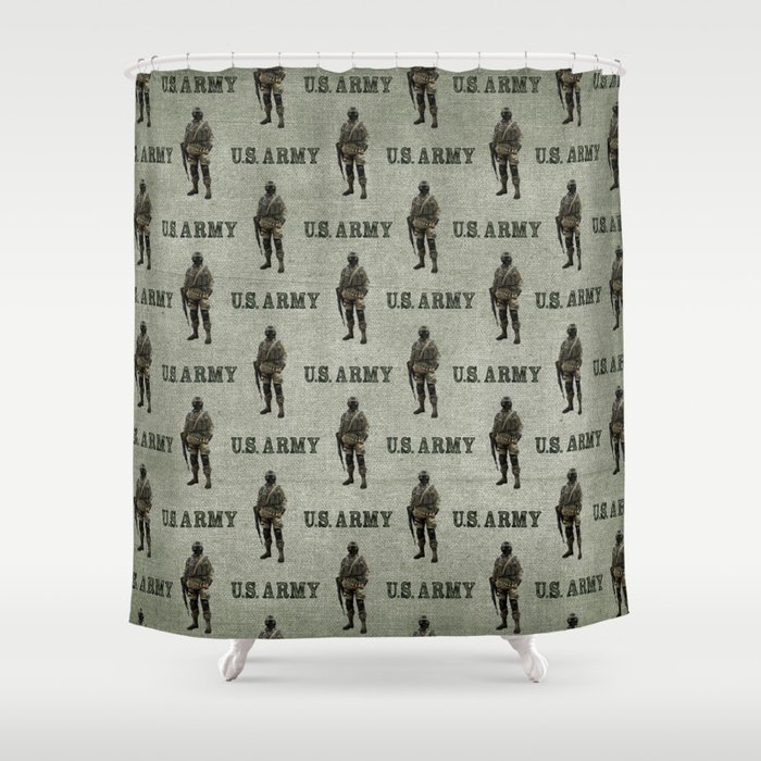 US Army Green Soldier Shower Curtain