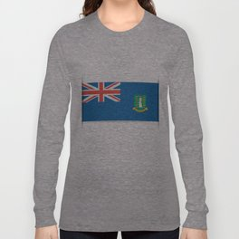 Flag of British Virgin Islands. The slit in the paper with shadows. Long Sleeve T-shirt
