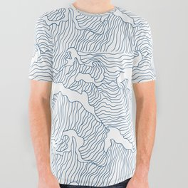 Japanese Wave All Over Graphic Tee