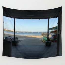 Provincetown pier Wall Tapestry