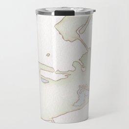 Cayo Hueso Watercolor Map Travel Mug