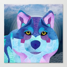 SHANTI SPARROW: Shadow the Wolf Canvas Print
