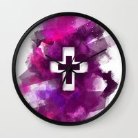 cross Wall Clocks featuring cross by melazerg