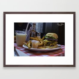 Burger & Fries Framed Art Print