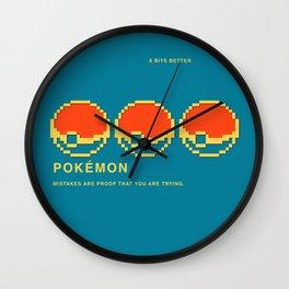8 BITS BETTER -  POCKET  MONSTER Wall Clock