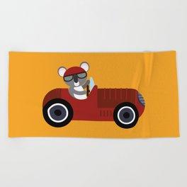 Koala Racer Beach Towel