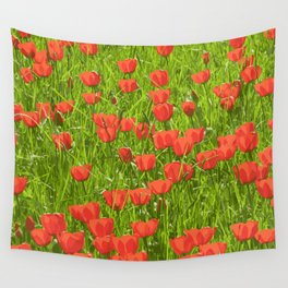 tulips field Wall Tapestry