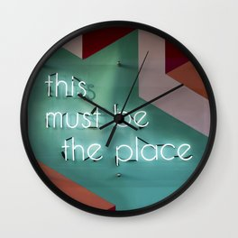 Right Here Wall Clock