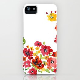 the daily creative project: romantic flowers iPhone Case